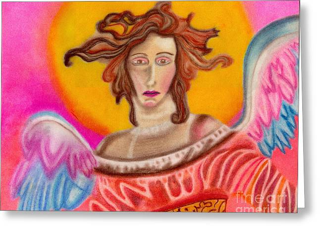 Sad Angel Greeting Card by Christine Perry