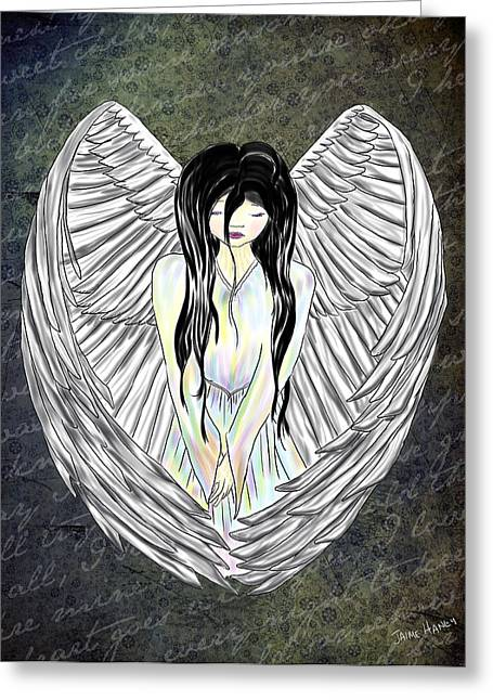Sad Angel Greeting Card
