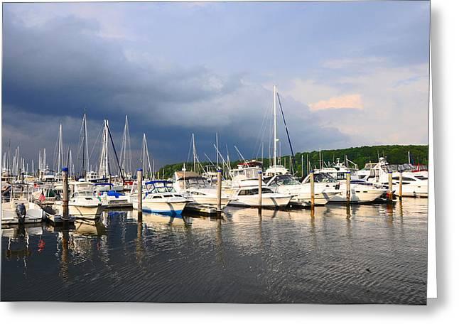 Safe Harbor Greeting Card by Christine Stonebridge