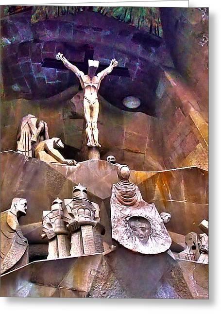Sagrada Facade Greeting Card by Artistic Photos