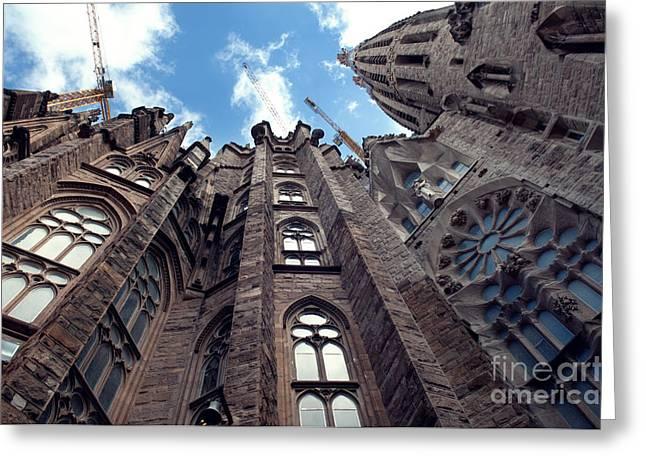 Sagrada Familia In Barcelona Greeting Card by Design Remix