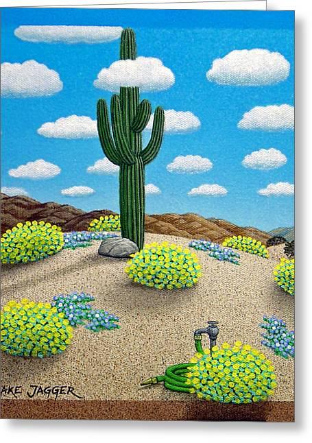 Saguaro Greeting Card by Snake Jagger