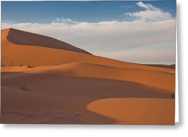 Sahara Sanddunes Greeting Card by Leo Keijzer