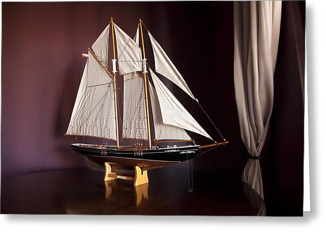Sail Boat Greeting Card by Miguel Capelo