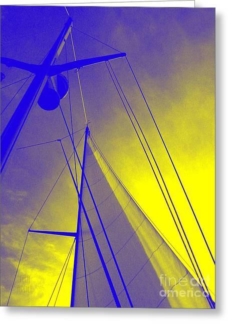 Sail Into Yellow Greeting Card