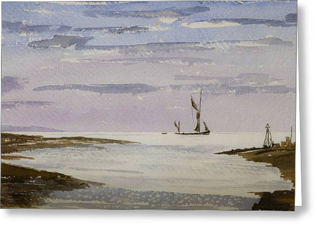 Greeting Card featuring the painting Sail On By by Rob Hemphill