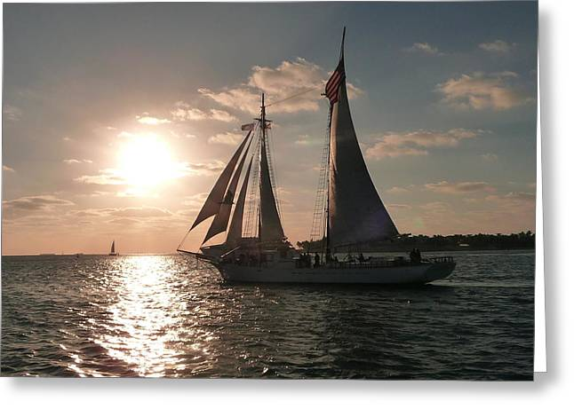 Greeting Card featuring the photograph Sailboat At Key West by Jo Sheehan