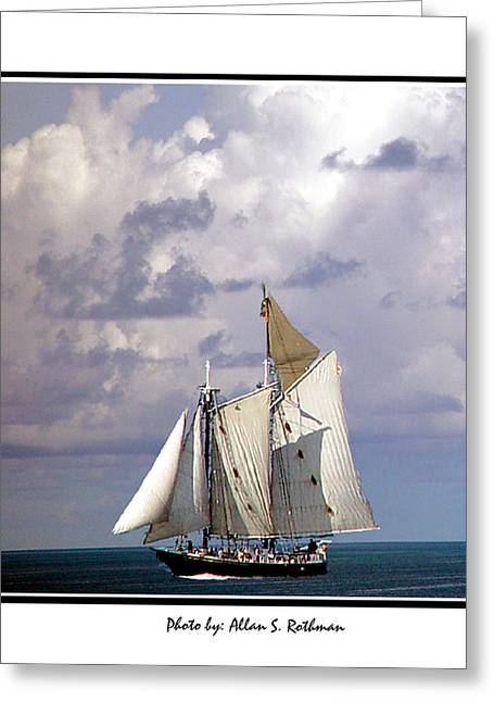 Sailboat Clouds Greeting Card