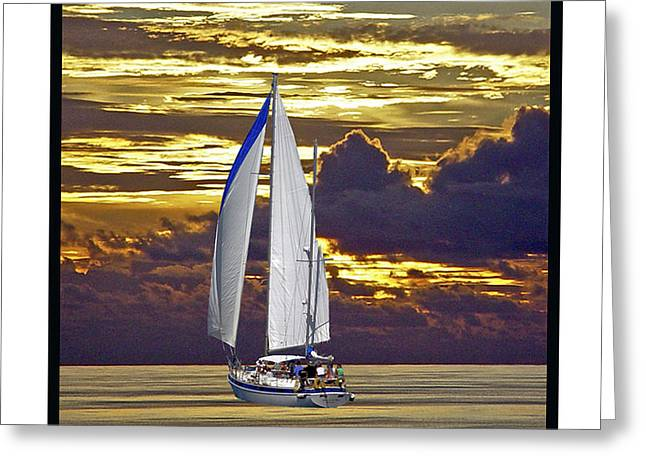 Sailboat Sunset Greeting Card