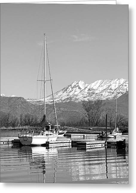 Sailboats At Utah Lake State Park Greeting Card by Tracie Kaska