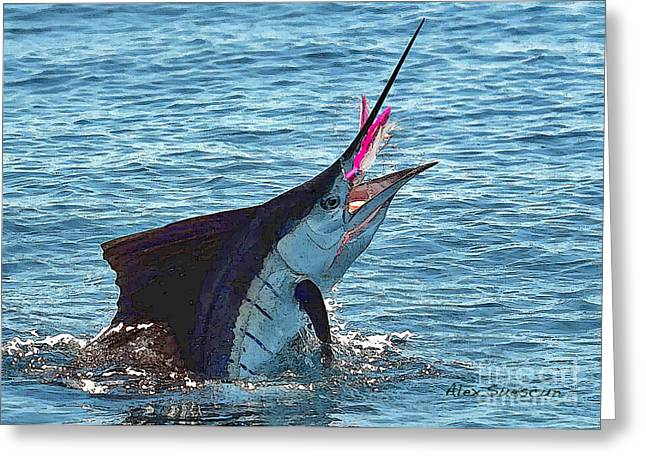 Sailfish Shake Greeting Card