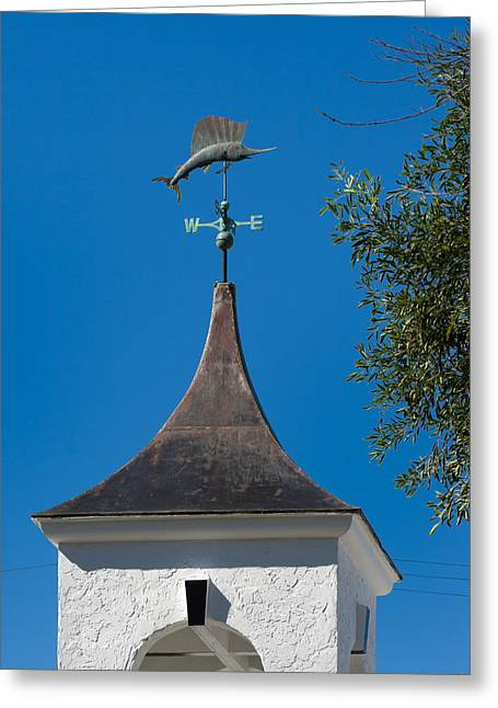 Sailfish Weather Vane At Palm Beach Shores Greeting Card