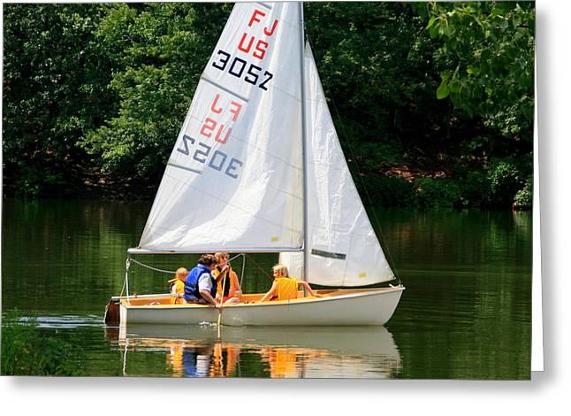 Sailing   Greeting Card by Lennie Malvone