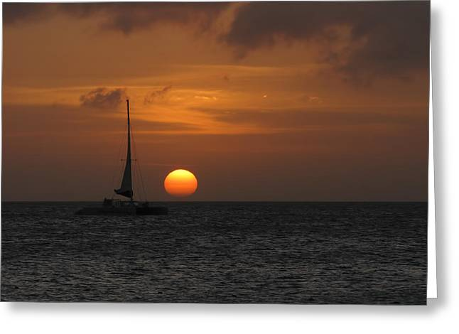 Greeting Card featuring the photograph Sailing Away by David Gleeson