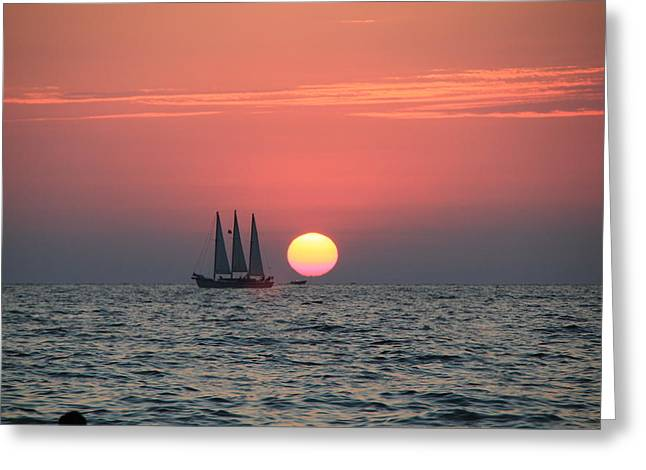 Sailing Away From The Sun Greeting Card