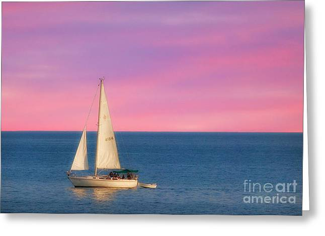 Sailing Blue Waters Greeting Card