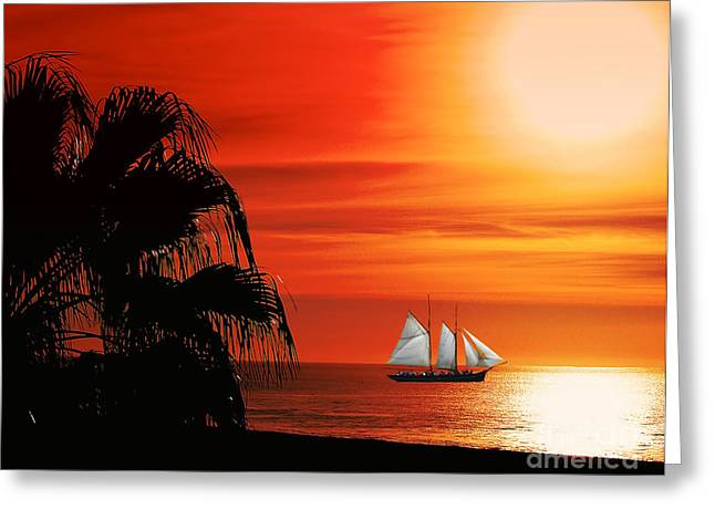 Sailing In Mexico Greeting Card