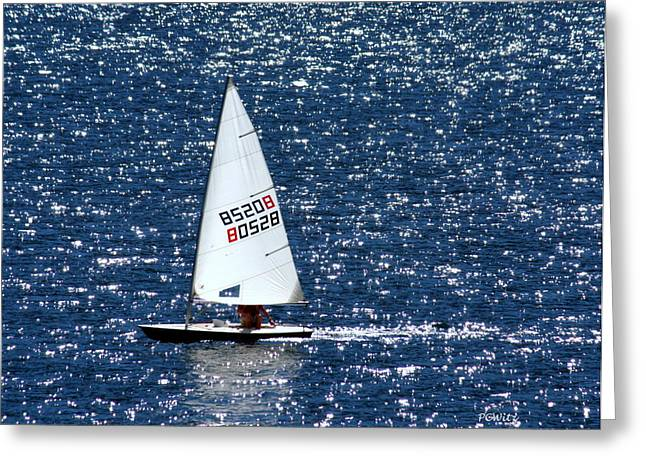 Greeting Card featuring the photograph Sailing by Patrick Witz