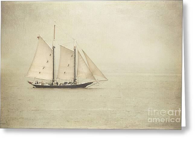 Sailing Ship Greeting Card by Hannes Cmarits