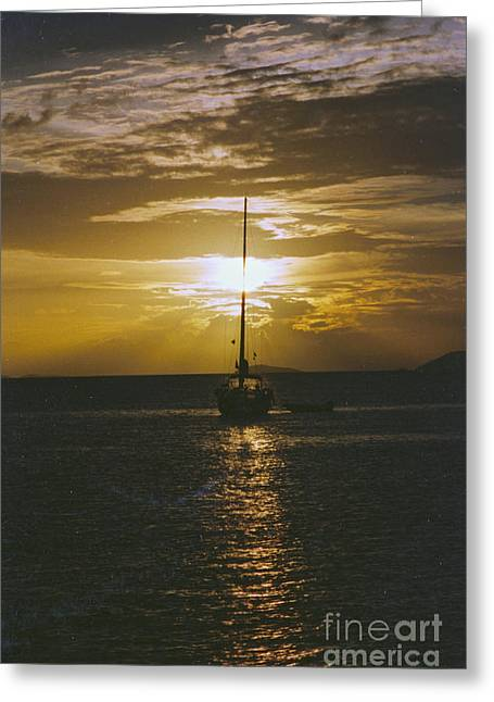 Sailing Sunset Greeting Card