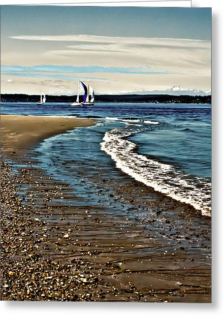 Sailing The Puget Sound Greeting Card by David Patterson