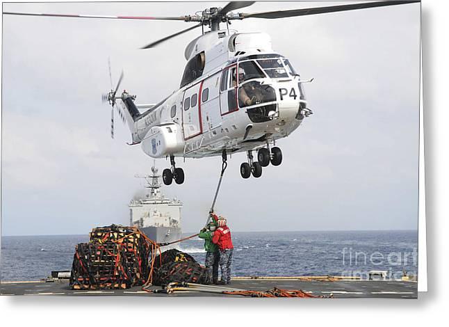 Sailors Hook Up A Pole Pendant Greeting Card