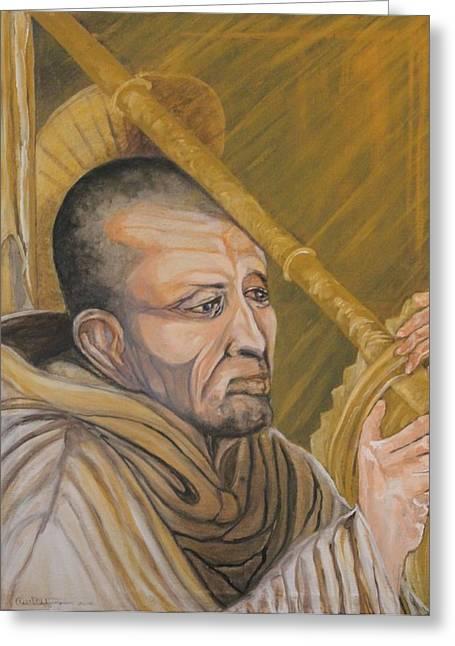 Saint Bernard Of Clairveaux Greeting Card