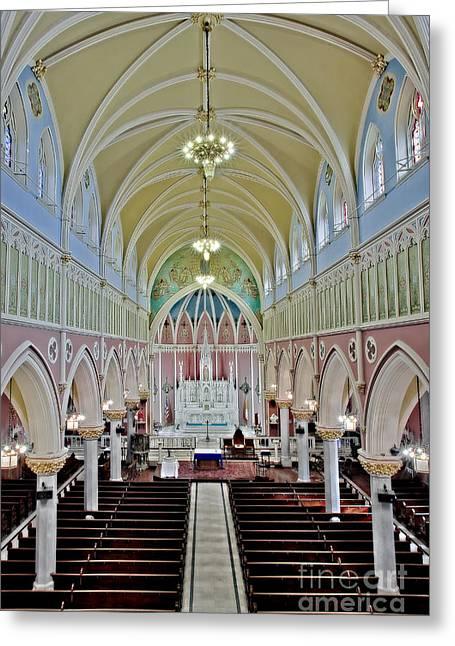 Saint Bridgets Gothic Church Greeting Card