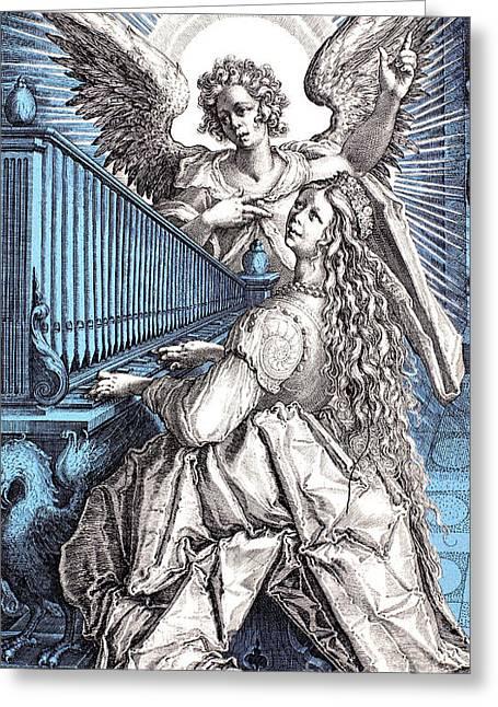 Saint Cecilia (d.230) Greeting Card by Granger