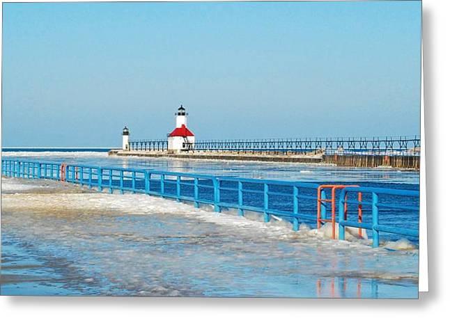 Saint Joseph North Pier 2603 Greeting Card by Michael Peychich