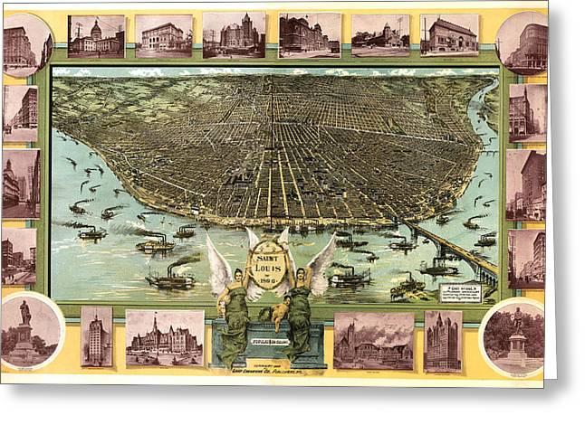 Saint Louis 1896 Greeting Card by Donna Leach