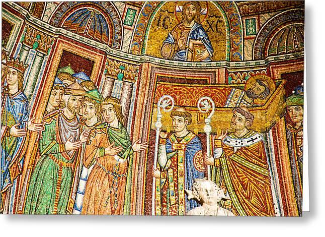 Saint Mark's Basilica Mosaic Greeting Card by David Waldo