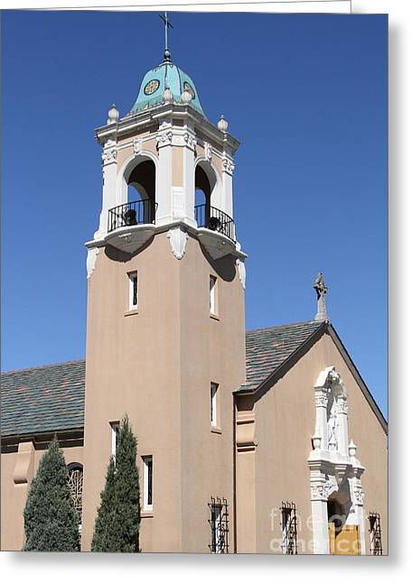 Saint Patrick's Church - Larkspur California - 5d18550 Greeting Card by Wingsdomain Art and Photography