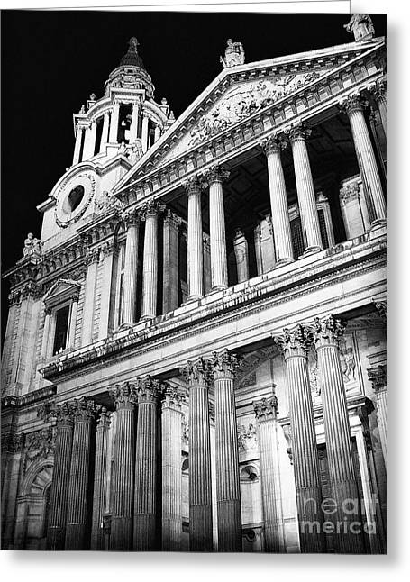 Saint Paul's Cathedral - Front Greeting Card by Thanh Tran