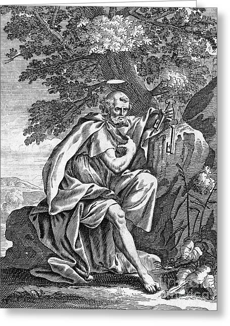 Saint Peter (d. 67) Greeting Card by Granger