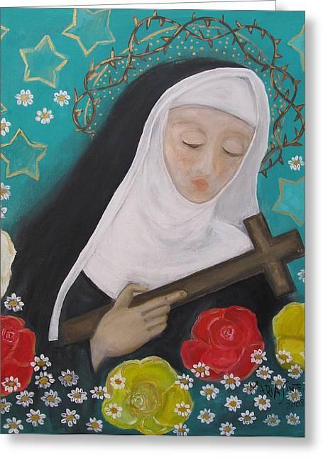 Saint Rita Greeting Card by Maria Matheus Maria Santeira