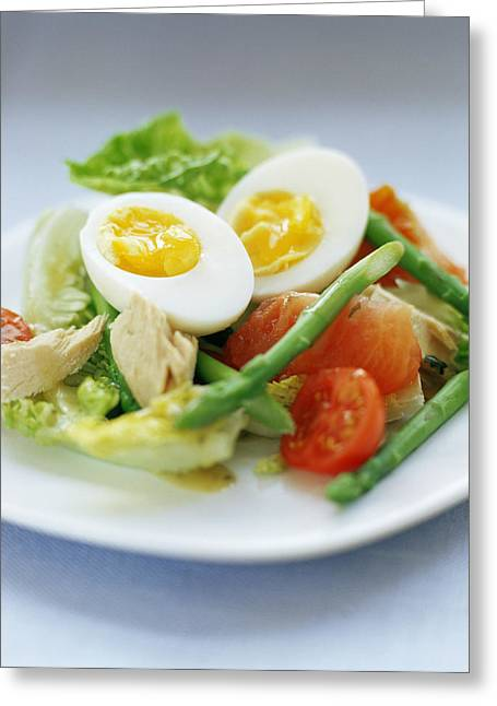 Salad Greeting Card by David Munns