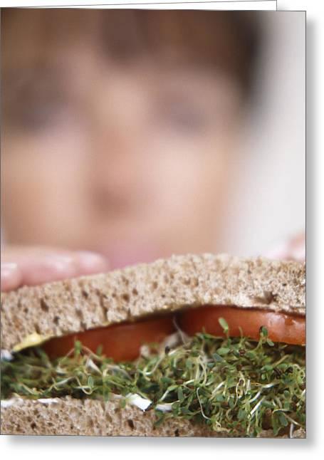 Salad Sandwich Greeting Card by Cristina Pedrazzini