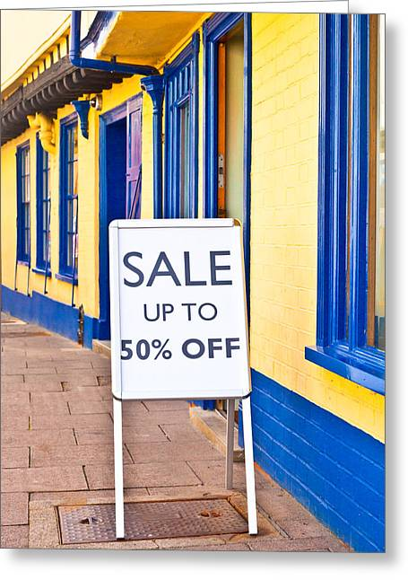 Sale Sign Greeting Card by Tom Gowanlock