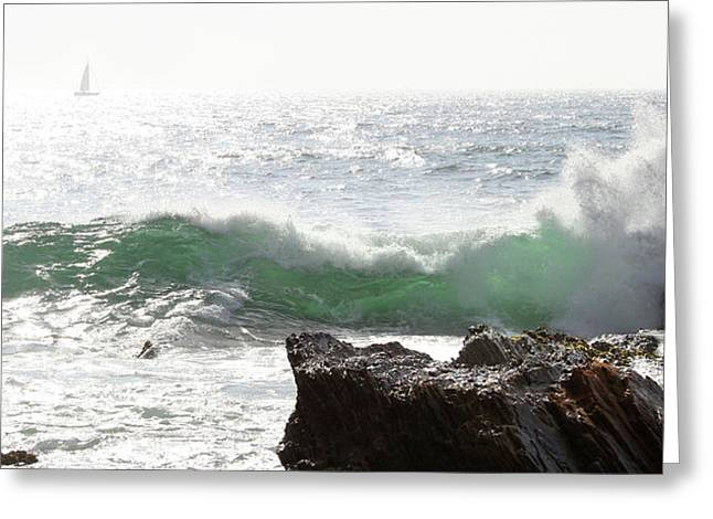 Greeting Card featuring the photograph Saling 1 by Michael Rock