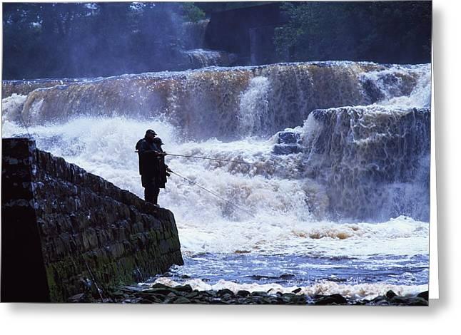 Salmon Fishing, Ballisodare River, Co Greeting Card