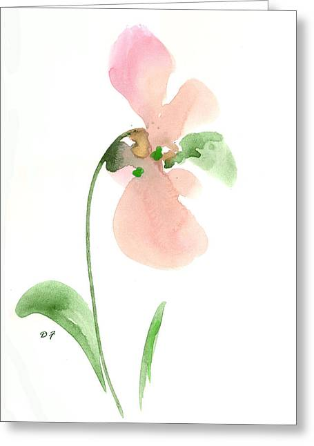 Salmon Flower Greeting Card