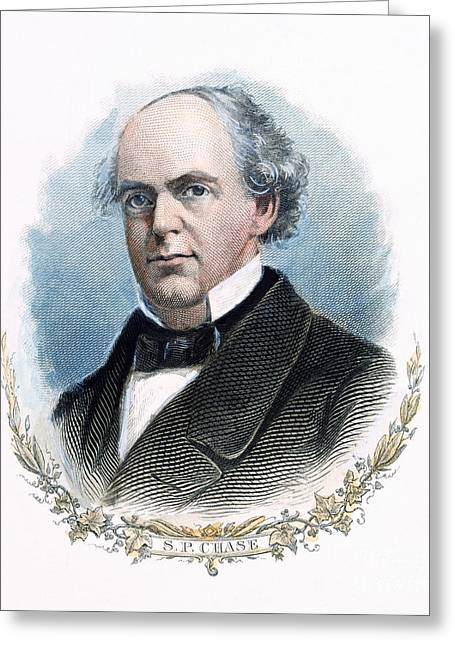 Salmon P Chase (1808-1873) Greeting Card by Granger