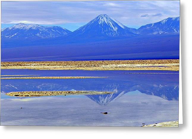 Salt Lake At The Atacama Desert Chile Greeting Card
