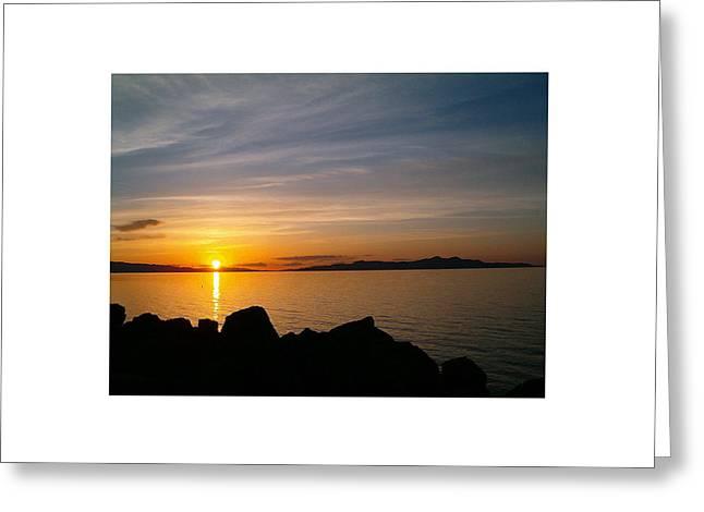 Salt Lake Sunset Greeting Card