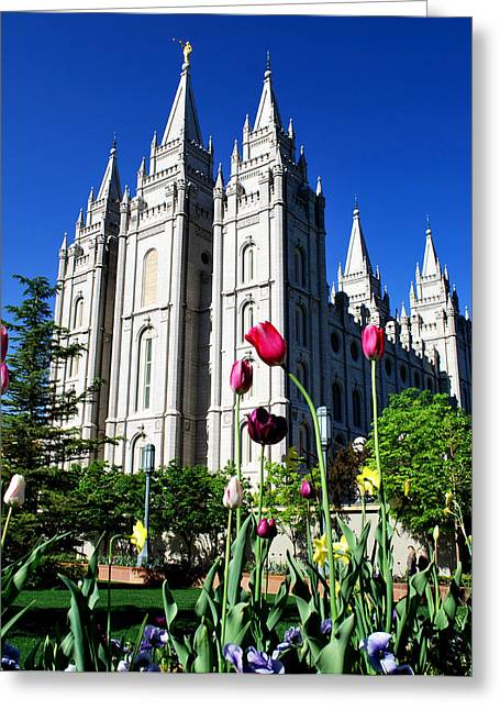 Salt Lake Temple Greeting Card by Robert Gallup
