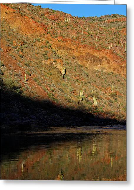 Greeting Card featuring the photograph Salt River Sunset by Atom Crawford