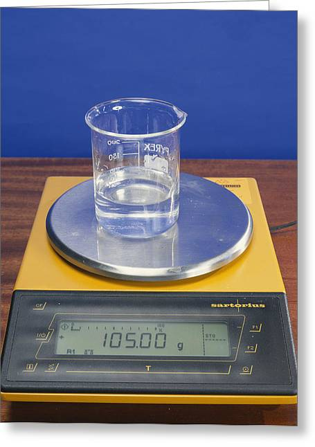 Salt Solution On Scales Greeting Card by Andrew Lambert Photography