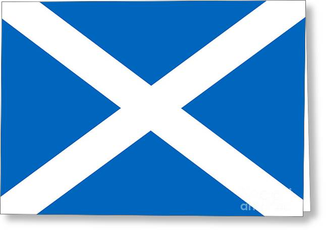 Saltire Greeting Card by Steev Stamford