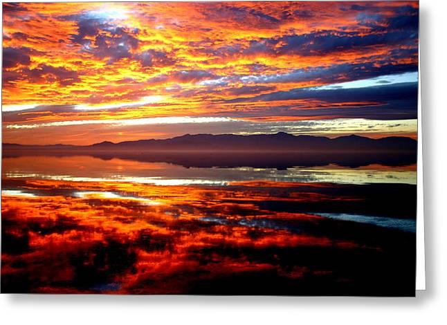 Salton Sea Sunset Number One Greeting Card